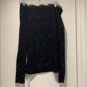 NWT Long Sleeved Lace Off-the-Shoulder Top!